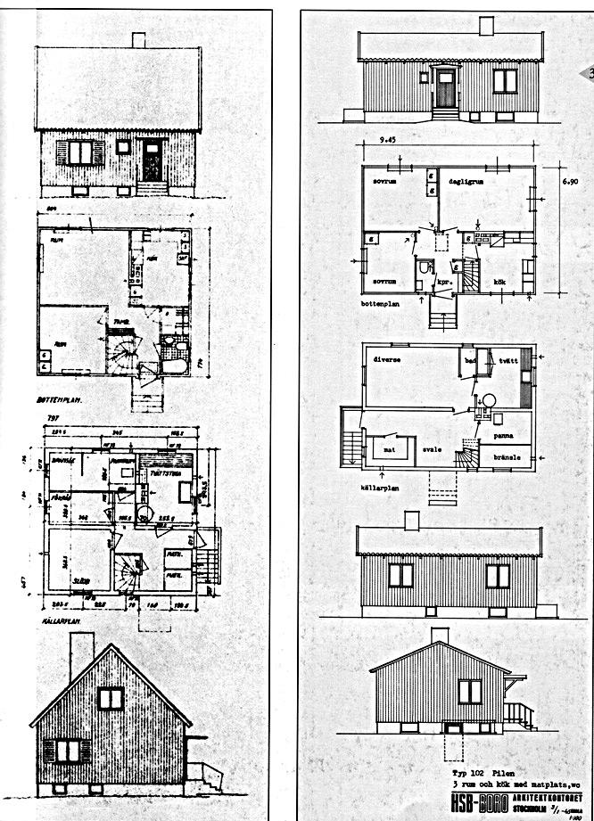 Tegninger-svenskehuse